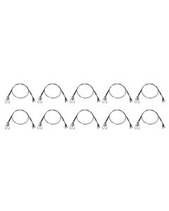 10 PAKJES - Specitec Spin Rig Steel Wire 30cm (2pcs)