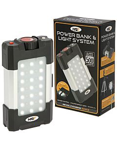 NGT 21 LED Light 500 Lumen with USB Rechargable Battery & Powerbank