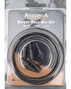 Anaconda Deluxe Safety Lead Clip Set Army Green | 3 SETS