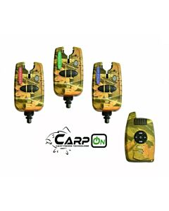 CarpOn Funk Bite Alarm Set 3+1 Camo