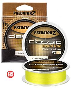 Carpzoom Predator-Z Classic Braid Line Yellow 120mtr (in diverse diameters)