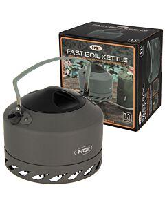 NGT Aluminium Outdoor Fast Burn Kettle - 1.1L Gun Metal