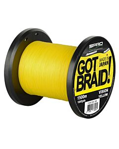 Spro GOT Braid! Yellow 1500mtr (in diverse maten)