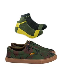 Navitas LoDown Lace Up Camo Trainer + Ankle Socks DEAL