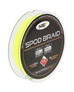 NGT Teflon Coated SPOD Braid Fluo Yellow | 30lb 300mtr