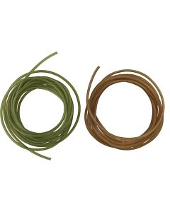 MAD Silicone Tube 2mtr Green of Brown (in diverse diameters)