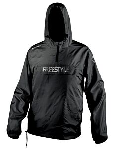 Spro Freestyle Storm Shield Rain Jacket (Black / Blue)