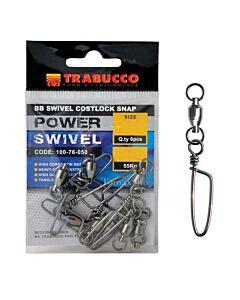 Trabucco BB Swivel Costlock Power Snap | Size 06 | 70kg