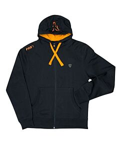 Fox Lightweight Zipped Hoodie Black / Orange
